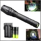 Zoomable New XML T6 LED 10000 LM Flashight 18650 5 Modes Torch Lamp+Charger WE