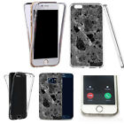 360° Silicone gel full case cover for majority mobiles - marble design ref 0208