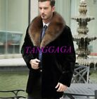 Mens Loose Faux Fur Coat Winter Thick Parka Overcoat Outwear Trench Coat Leisure