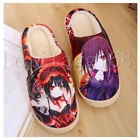 Plush Home Slippers Indoor Shoes Soft Non-slip Anime DATE A LIVE Tokisaki Kurumi