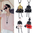 ES_ Fashion Women Cloth Doll Girl Pendant Long Chain Sweater Necklace Jewelry Gr