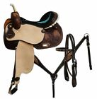 141516 Circle S Barrel saddle set with feather tooling