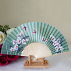 Pattern Folding Dance Wedding Party Lace Silk Folding Hand Held Flower Fan I