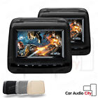 "XTRONS 2X7"" Car Headrest Pillow DVD Player Game Dual Twin Monitor FM IR USB SD"