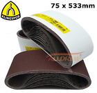 Sanding Belts 75 x 533 mm KLINGSPOR 3&#039;&#039; x 21&#039;&#039; Belt Sanders MAKITA / BOSCH etc. <br/> Grits Available : 24 40 60 80 100 120 150 180