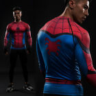 Superhero Marvel DC T Shirt Training Tee Jersey Top Sport Gym Men Costume Pro
