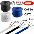 1000Feet CAT5E CAT6 Cable UTP Solid Network Ethernet Bulk Wire RJ45 Lan LOT HT