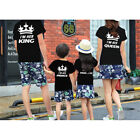 Summer Family Clothing Short- Sleeved King Queen Prince Princess Crown T-shirt
