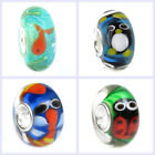 Animal Bug Murano Lampwork Glass Bead with Sterling Silver Core European Charm