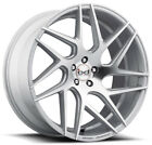 "22"" BLAQUE DIAMOND BD-3 SILVER WHEELS FOR DODGE CHLLENGER AWD"