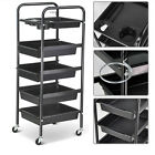 1/2/4Pcs 5 Tier Hairdressing Storage Trolley Beauty Salon Rolling Cart Trolley