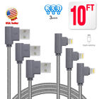 3 Pack 90 Degree iPhone Cable Right Angle lightning Cable USB Charger &Data Cord