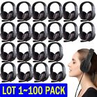 LOT 100X USB Wired Stereo Micphone Game Headphone Headset For Sony PS3 PS4 PC HT