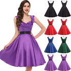 Clearance!! Cheap Retro Swing Housewife Pinup Evening Cocktail Party Prom Dress