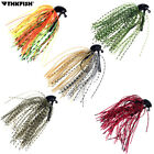 5Pcs 7g /10g Lead Skirt Rubber Fishing Jigs Head Buzz Swim Bass Jig Fishing Lure