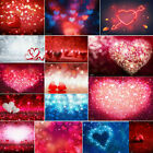 US 3x5ft Valentine's Day Photography Backdrop Hearts Shape Baby Art Photo Prop