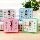 Cute Concise Square Small Bed Compact Travel Quartz Beep Alarm Clock Portable