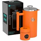 Large French Press Coffee Maker - Triple Filter, Vacuum Insulated Stainless Stee