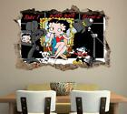 Betty Boop 3D Smashed Wall Sticker Decal Home Decor Art Mural J887 $44.99 AUD