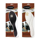 NEW LEATHER INSOLES SHOE INSERTS FOR LADIES AND MEN BLACK BROWN CREAM All SIZES