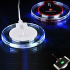 Qi Wireless Fast Charger Dock Charging Pad+Receiver For IPHONE & SAMSUNG