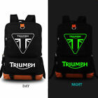 TRIUMPH MOTORCYCLE Logo Backpack Men Boys Travel Rucksack School Bags#9 $33.99 USD on eBay