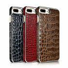 Luxury Genuine Real Leather Crocodile Back Case Cover For Apple iPhone 7& 8 Plus