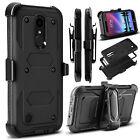 Shockproof Hybrid Hard Phone Case W/ Stand Holster Belt Clip Cover for Cellphone