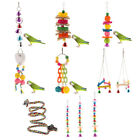 Colorful Parrot Swing Bird Toy Stand Perch Rope Cage Toys Parakeet Cockatiel