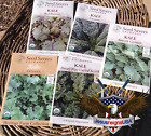 Kale Seeds - Organic Preserved Heirlooms - Non Gmo Open Pollinated - 100 SEEDS