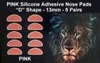 Optical 3M Adhesive Silicone Nose Pads for Eyeglasses - Pink 13mm (5-50 Pairs)