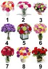 Carnations Flowers Small or Large Sticky White Paper Stickers Labels NEW