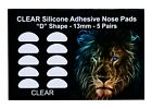 Optical 3M Adhesive Silicone Nose Pads for Eyeglasses - Clear 13mm 5-50 Pairs