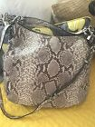 micahel kors snake skin shoulder bag