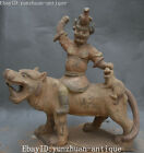 Ancient Pottery Person Man Peple Liangshan Hero Wu Song Fights Tiger Statue