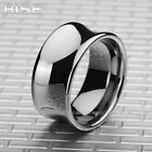 New Gift Mens Womens Tungsten Carbide Silver Arc wide Ring wedding band A32