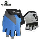 Rockbros Bike Half Finger Short Finger Gloves Cycling Sport Gloves Blue New