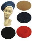 New Vintage WWII 1940's Style Homefront Victory Classic Beaded Beret Hat