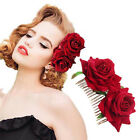 Bridal Boho Rose Flower Hair Comb Clip Hairpin Wedding Party Hair Accessories