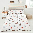 Rapport Woodland Country Animals Owls, Rabbits & Foxes Cotton Rich Duvet Set