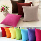 Plain Solid Throw Home Decor Pillow Case Bed Sofa Waist Cushion Cover Multicolor image
