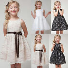 Flower Girl Princess Dress Kids Birthday Party Pageant Wedding Lace Formal Gown