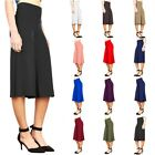 Fashion Women Wide-leg Pants Solid High Waist Loose Pants Palazzo Flared Trouser