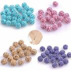 50X Hot 10mm SHAMBALLA Perlen Beads Shining Loose Beads Multicolor Accessories