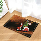 Frog riding a motorcycle Shower Curtain Bathroom Decor Fabric & 12hooks 71*71in