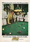 Vintage 1946-69 BILLIARDS, POOL TABLES & Themed Print Ads (Priced Per Ad)