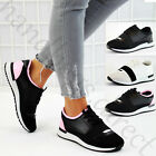 New Womens Running Slip On Trainers Band Lightweight Gym Bali Flat Shoes Sizes