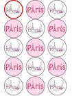 Paris Pink City of Love  Eiffel tower edible cupcake Toppers Wafer or Icing x 15
