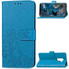 Floral Stand Leather Card Wallet Magnetic Case Cover For Samsung iPhone Huawei