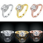 Women's Rings Finger Ring Band Engagement Ring Round Zircon Fashion Jewelry CD